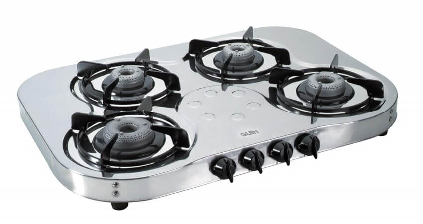 Glen 4 Burner Stainless Steel Gas Stove 1045 High Flame