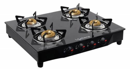 Lifelong 4 Burner Gas Stove with glass top